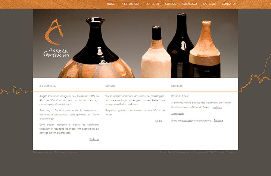 Angela Cantarino - website developed by Double-U-solutions