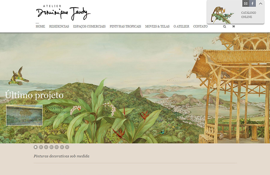 Dominique Jardy - website developed by double-U-Solutions