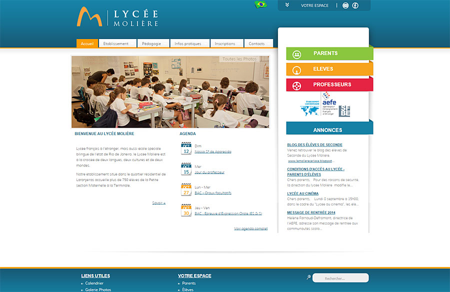 Lycée Molière - website by double-U-solutions