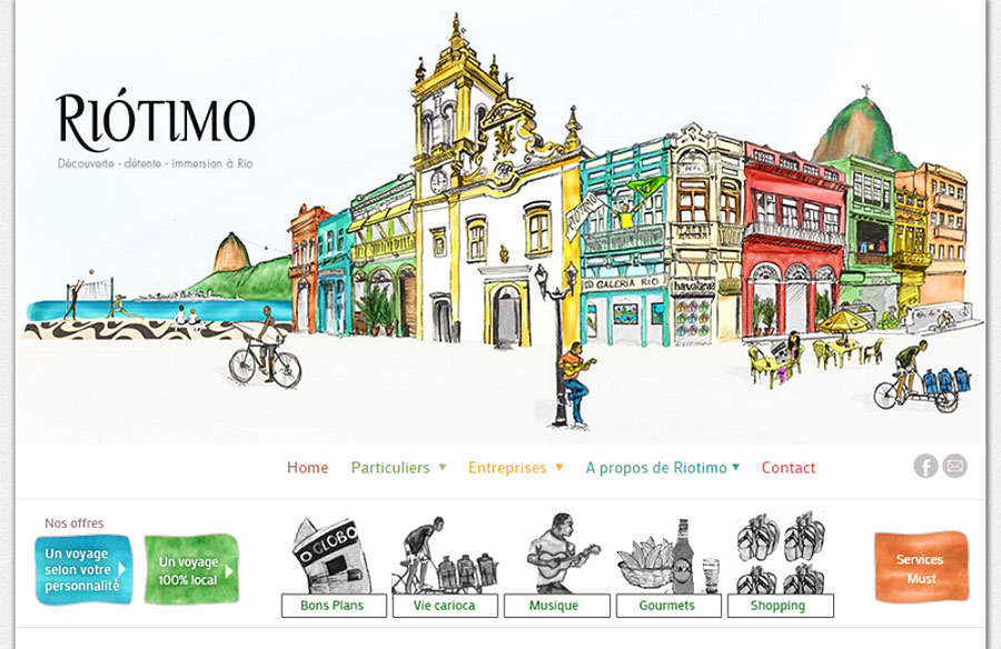 Riotimo - website developed by Double-U-solutions